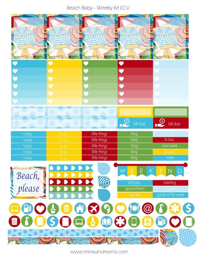Free Water Intake Tracker Planner Stickers - Printable and ...