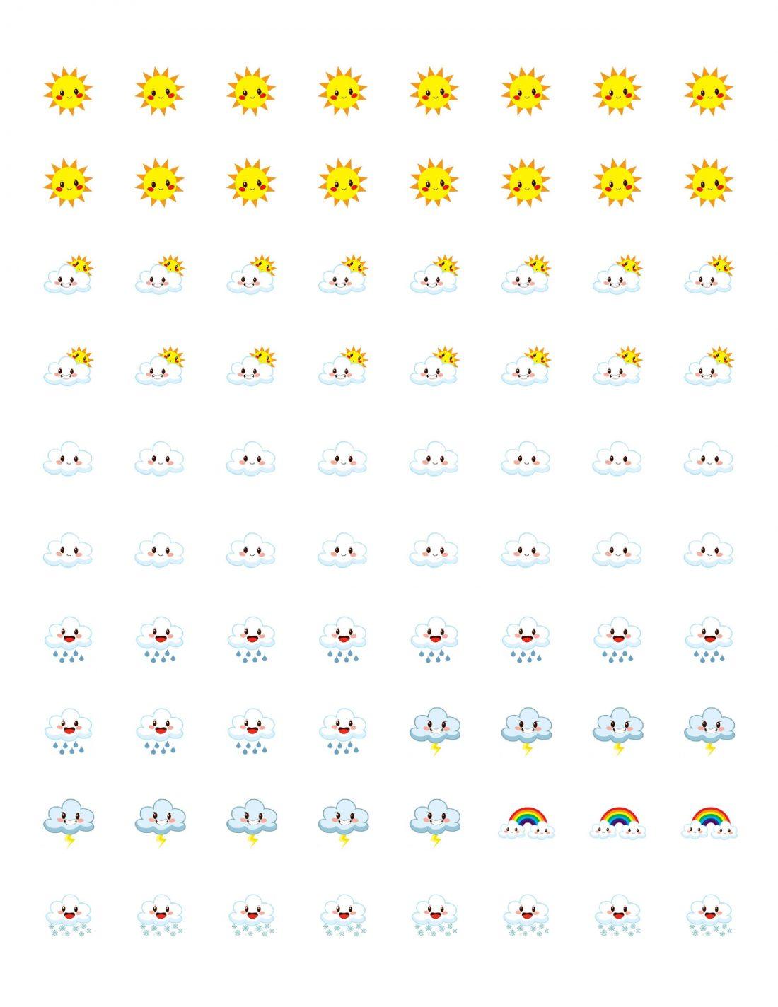 Free Printable Planner Stickers - Weather Icons | Mini Van ...