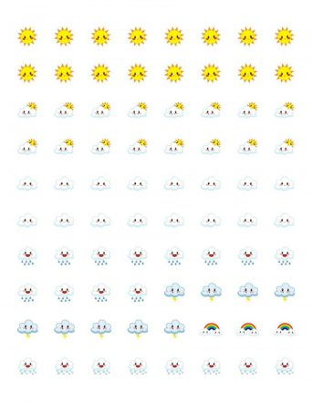 Free Printable Planner Stickers - Weather Icons | Mini Van Dreams