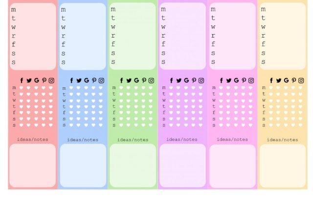 Free Printable Planner Stickers - Blog Planner Sidebars | Mini Van Dreams