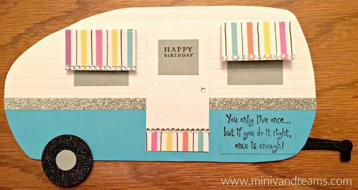 Retro Camper Birthday Card   Mini Van Dreams