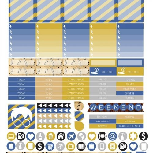 Free Printable Planner Stickers - Ravenclaw   Mini Van Dreams