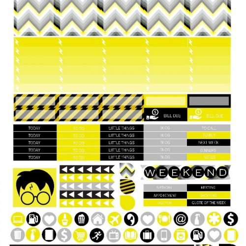 Free Printable Planner Stickers - Hufflepuff | Mini Van Dreams
