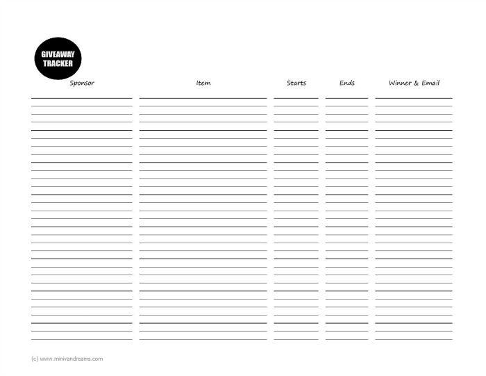 Free 2018 Blog Planner Printable | Mini Van Dreams