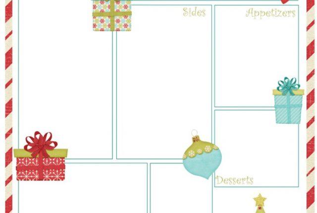 Christmas Dinner Planner Free Printable | Mini Van Dreams