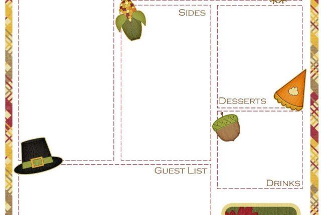 Thanksgiving Meal Planner Free Printable   Mini Van Dreams