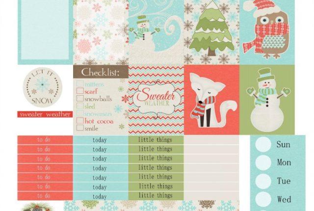 Free Printable Planner Stickers: Sweater Weather | Mini Van Dreams