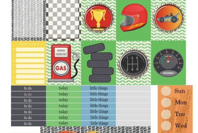 Free Printable Planner Stickers: Speed Zone | Mini Van Dreams