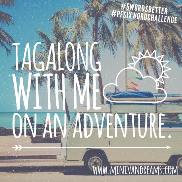 Six Word Stories: Tagalong | Mini Van Dreams