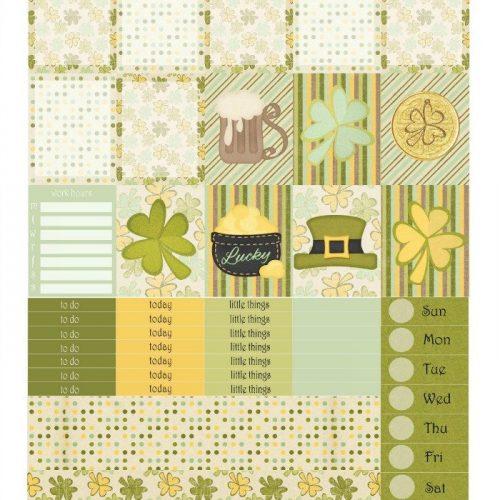 Free Printable Planner Stickers: St. Patrick's Day | Mini Van Dreams
