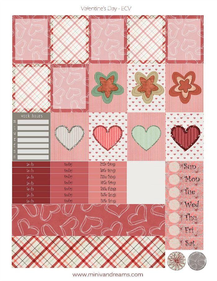 Free Printable Planner Stickers: Be My Valentines   Mini Van Dreams