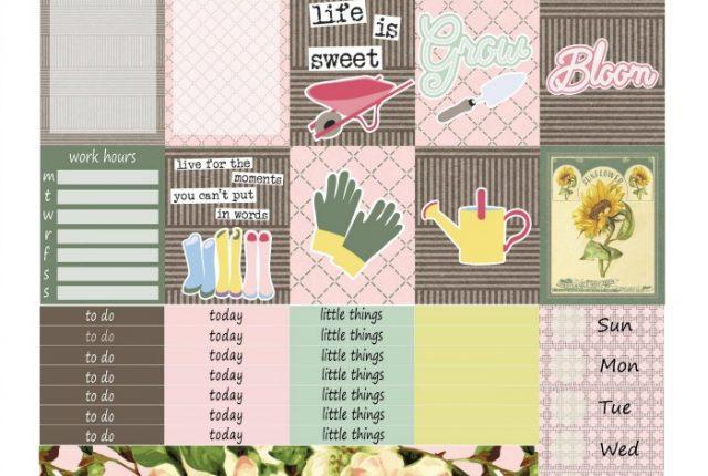 Free Printable Planner Stickers: Garden Life (ECV & HP) | Mini Van Dreams