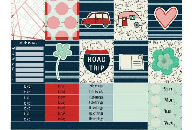 Free Printable Planner Stickers: Road Trip (ECV & HP)   Mini Van Dreams