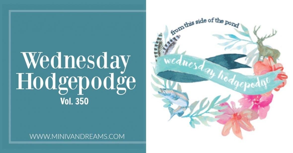 Wednesday Hodgepodge Vol. 350   Mini Van Dreams