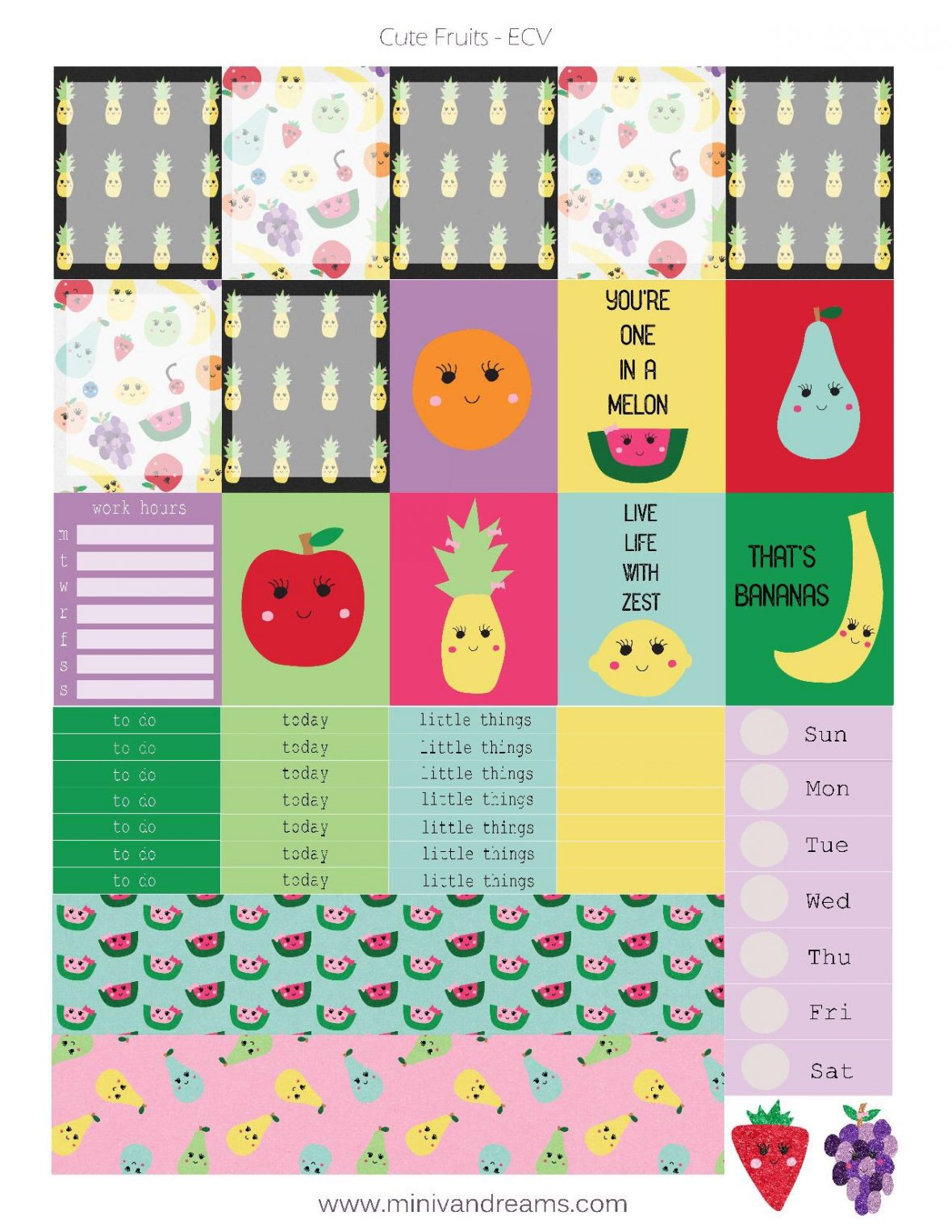 Hey Boo! Full Weekly Kit Printable Planner Stickers (for ...
