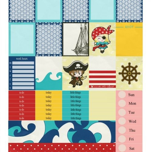Free Planner Stickers: Aargh Matey! | Mini Van Dreams