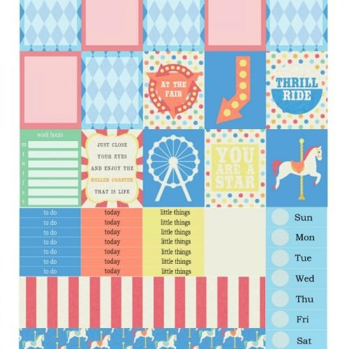Free Printable Planner Stickers: At the Fair | Mini Van Dreams