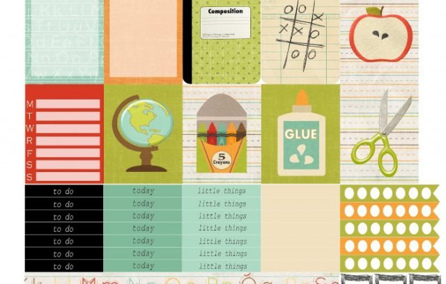 Free Printable Planner Stickers: Back to School | Mini Van Dreams