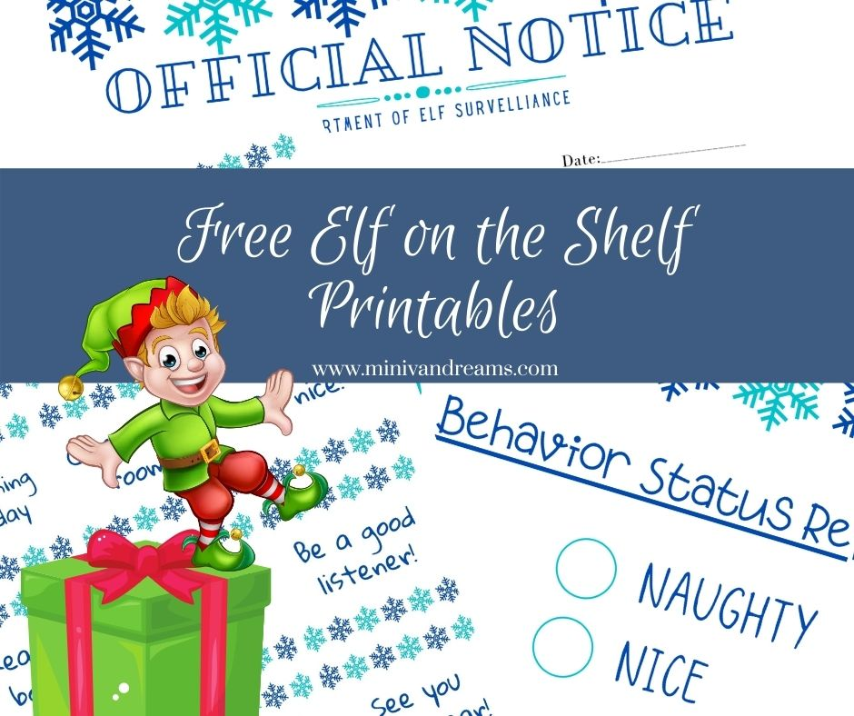 Free Elf on the Shelf Printables | Mini Van Dreams