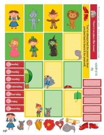 Wizard of Oz Free Printable Planner Stickers | Mini Van Dreams