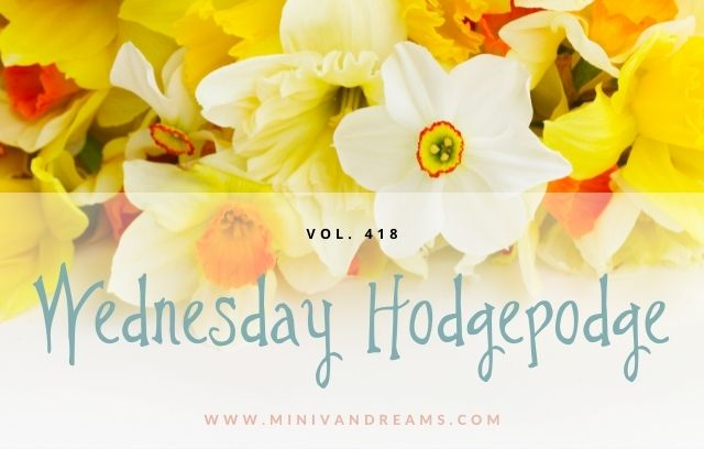 Wednesday Hodgepodge Vol. 418 | Mini Van Dreams
