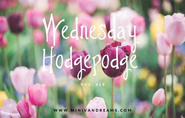 Wednesday Hodgepodge Vol 419