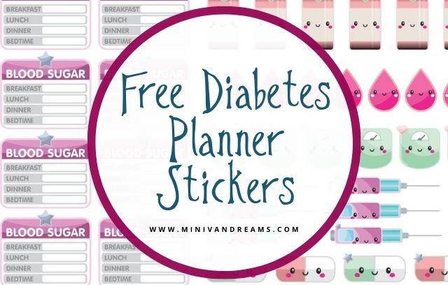 Free Diabetes Planner Stickers | Mini Van Dreams